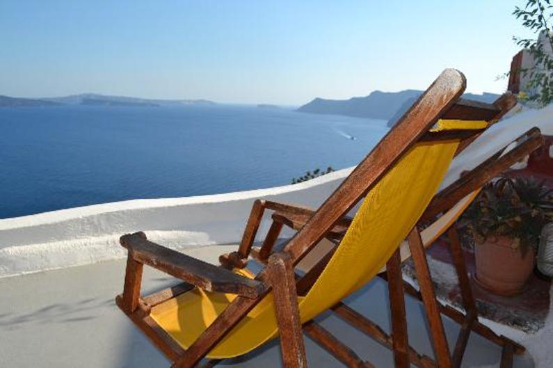 Hemels uitzicht op Santorini