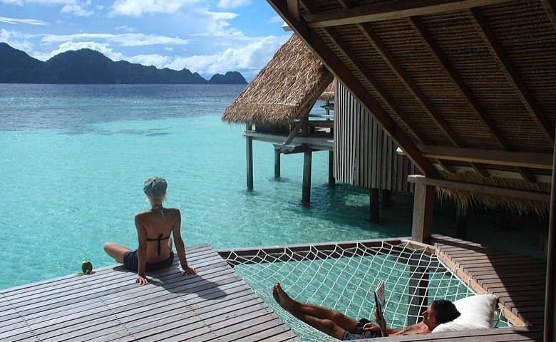 Slapen op een privé-eiland