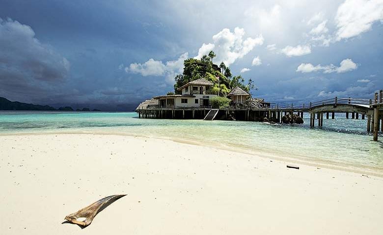 indonesie huisje op palen