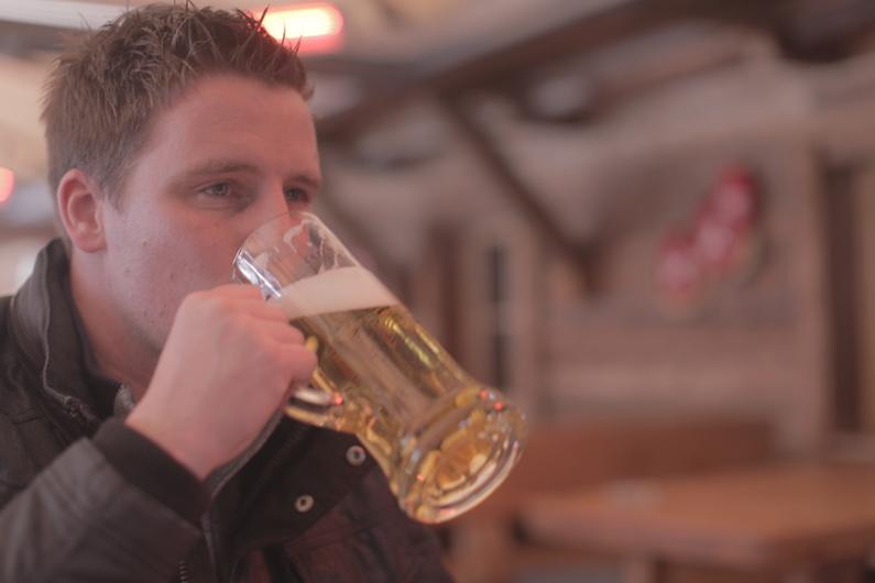 frank aan het tiroler bier