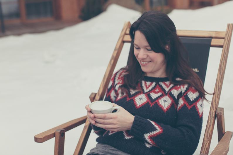 cappuccino in de sneeuw van your future postcard
