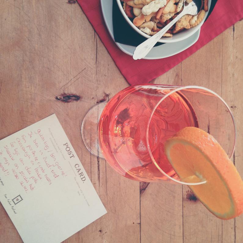 postcard en aperol