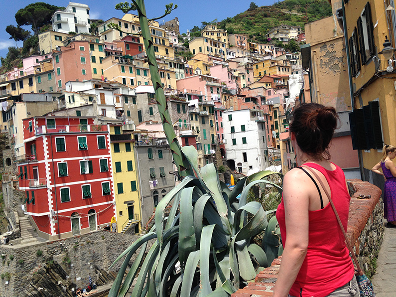 uitzicht op Riomaggiore
