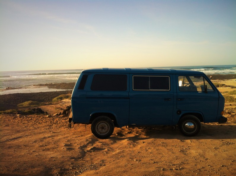 hippiebus surfstrand