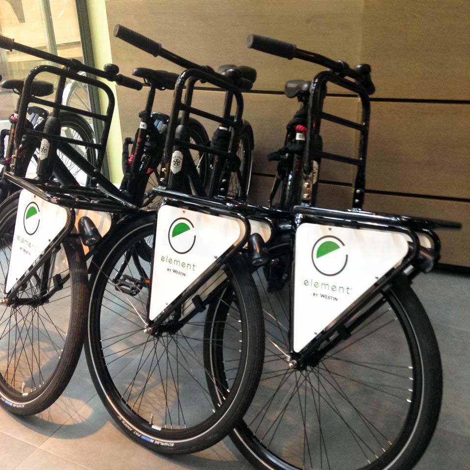 elements hotel gratis fiets