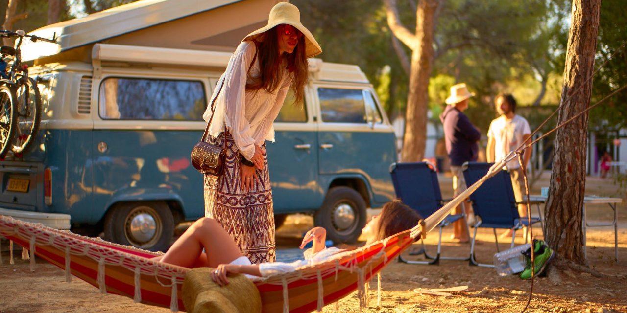 Hippie camping op Ibiza