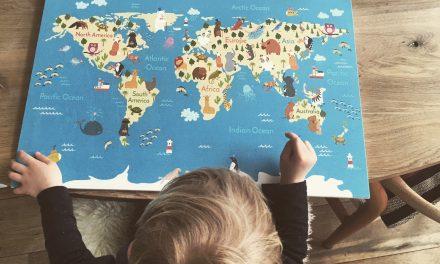 Wereldkaart voor kids