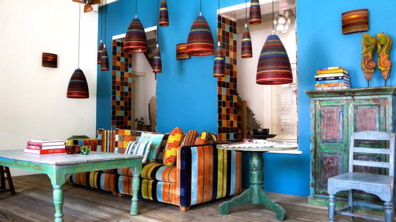 Kleurrijk huis op Curaçao